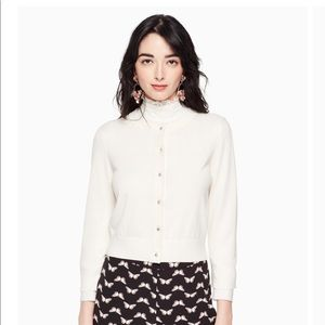 Kate Spade jeweled button cropped cardigan